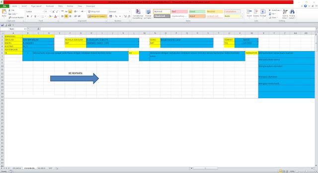 Download Aplikasi Membat RPP 1 Lembar Menggunakan Excel - Gratis