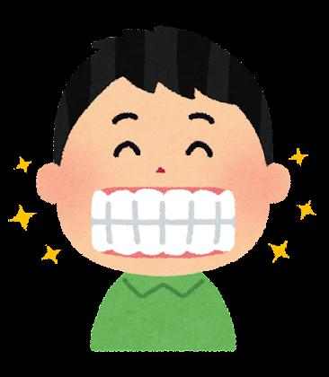 歯並びの良い人のイラスト