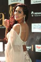 Prajna Actress in backless Cream Choli and transparent saree at IIFA Utsavam Awards 2017 0105.JPG