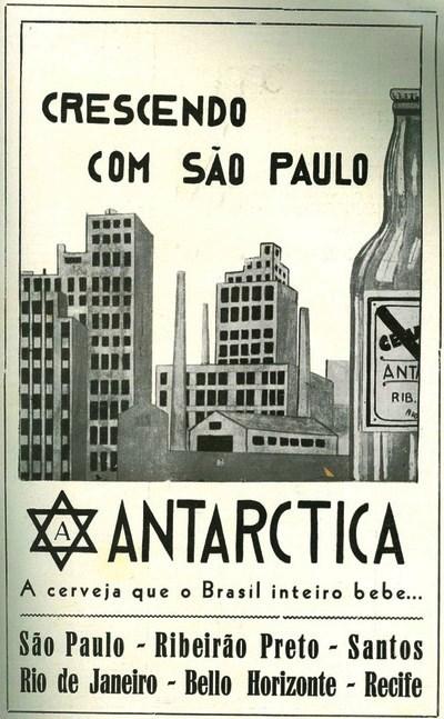 Propaganda da Cerveja Antarctica veiculada em 1934 promovendo a cidade de São Paulo