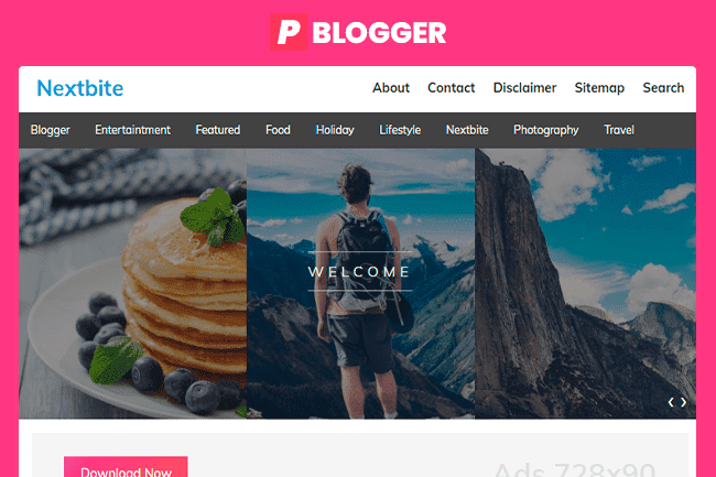 Nextbite Plantilla Blogger Gratis