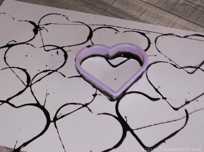 cookie cutter heart art