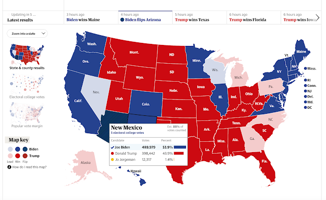 Guardian US Election 2020 Map