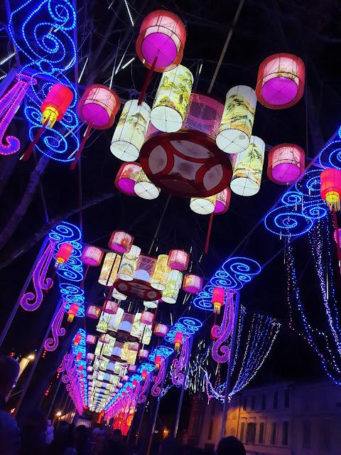 Festival Lanternes Gaillac Blog Hélidée Ciel illuminé Lampions