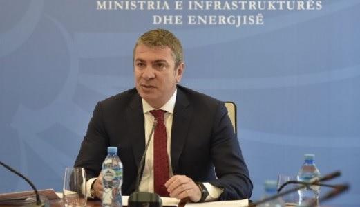 Infrastructure Minister Damian Gjiknuri