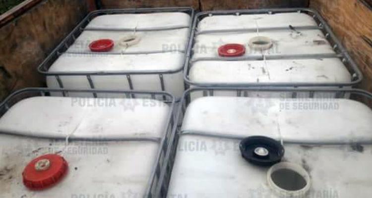 Aseguran 500 litros de hidrocarburo en EdoMéx