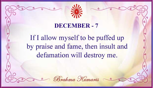 Thought For The Day December 7