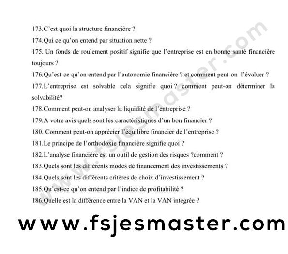 Exemple de questions posées en entretien oral pour les masters de comptabilité, finance, audit