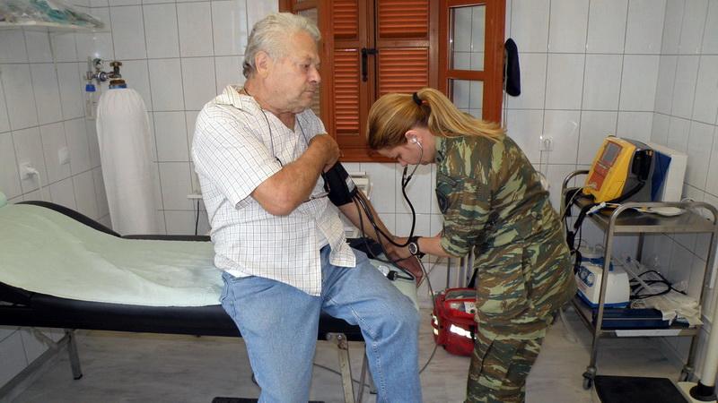 Στρατιωτικό ιατρικό κλιμάκιο στα Δίκελλα Αλεξανδρούπολης