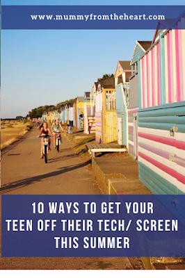 Get your teen off tech pin