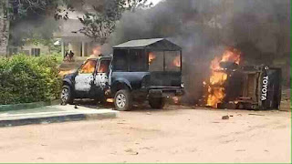 Abia state CID is on fire by the Unknown Gunmen