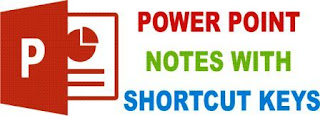 POWER POINT SIMPLE NOTES WITH SHORTCUT KEYS