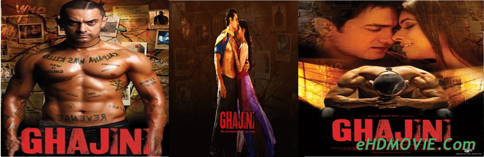 Ghajini 2008 Full Movie Hindi 720p - 480p ORG BRRip 650MB - 1.4GB ESubs Free Download