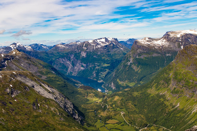 Panorama sul Geirangerfjord dal Monte Dalsnibba