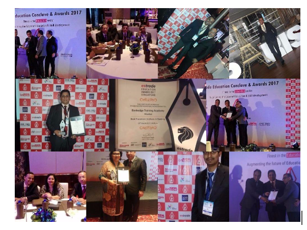 "BANKEDGE Wins the ""BEST PLACEMENT ACADEMY IN BANKING"" Award 2017 at ESTRADE Singapore - Education Conclave and Awards 2017."