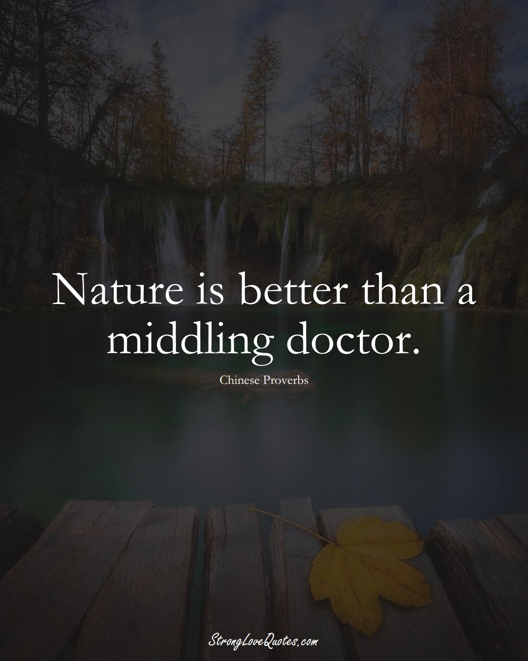 Nature is better than a middling doctor. (Chinese Sayings);  #AsianSayings