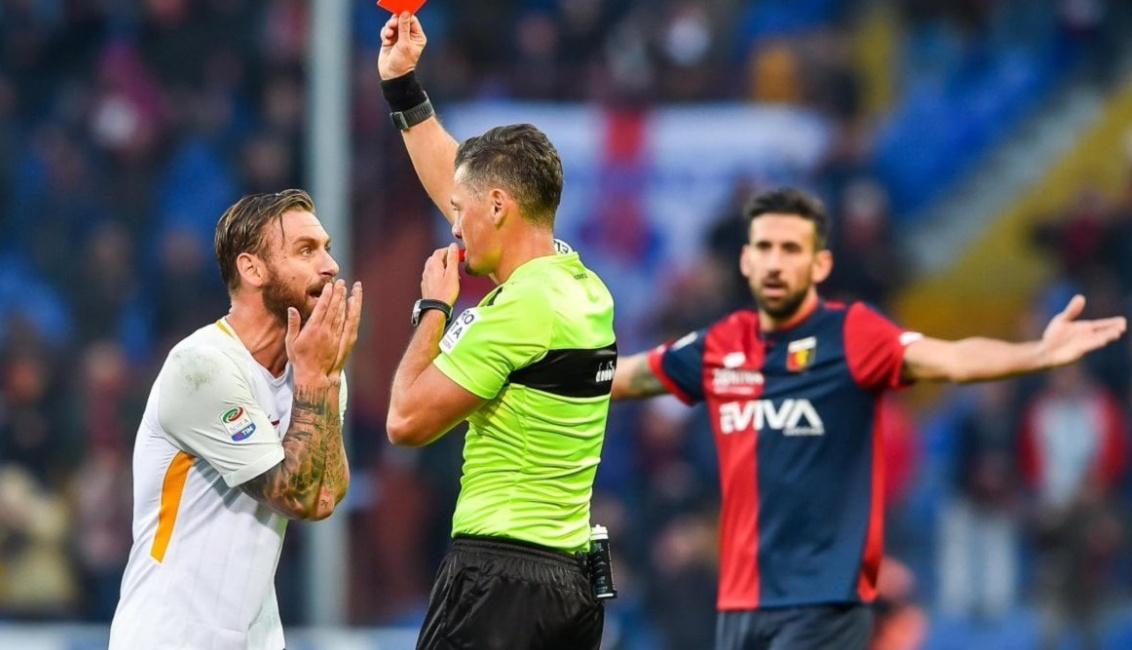 Genoa-Roma 1-1: ingenuo De Rossi espulso dal VAR | Calcio Serie A