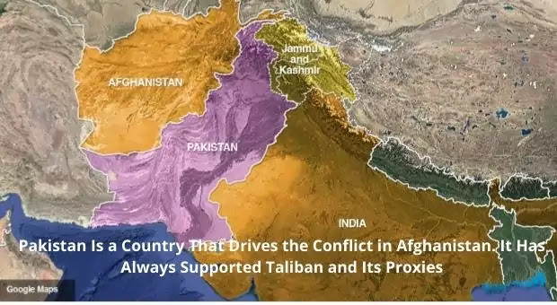 Global Map View of India, Pakistan and Afghanistan