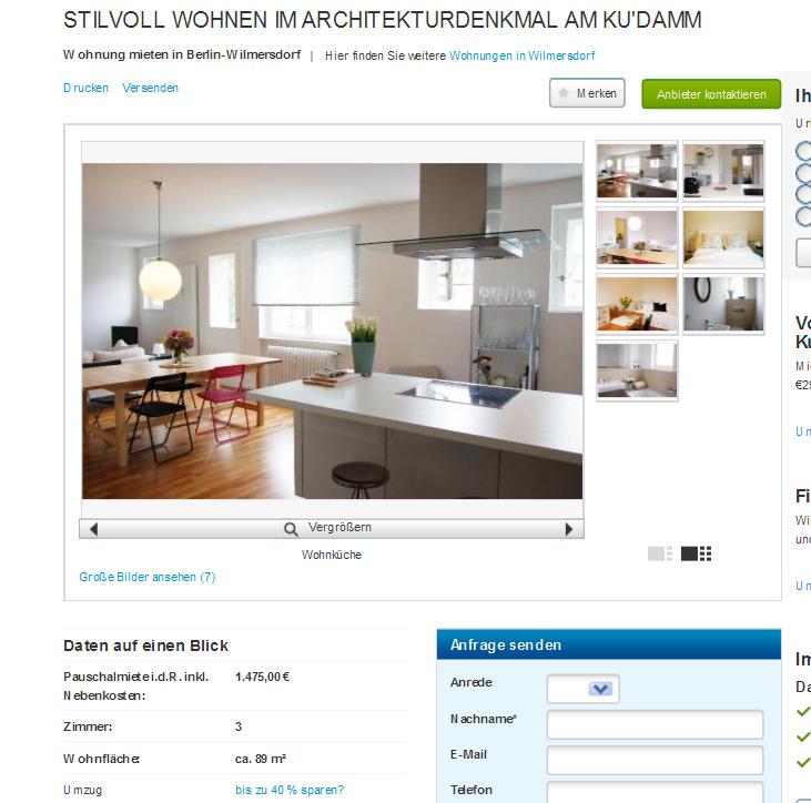 stilvoll wohnen im architekturdenkmal am ku 39 damm vorkassebetrug. Black Bedroom Furniture Sets. Home Design Ideas