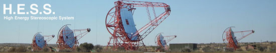 The HESS gamma ray telescope array in Namibia (Source: HESS Collaboration)