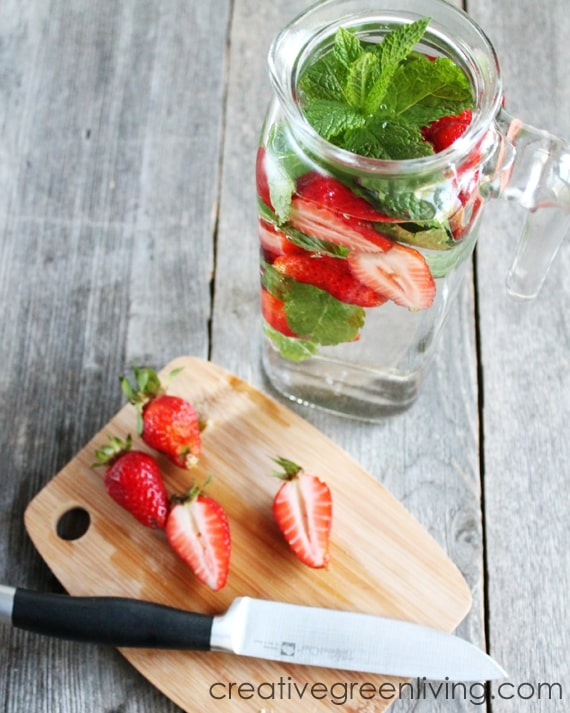 Best detox water recipes - strawberry infused detox water recipe