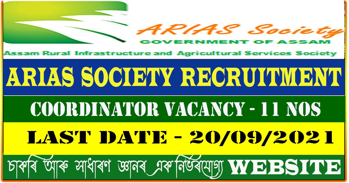 ARIAS Society Recruitment 2021 - Apply for 11 Coordinator Vacancy