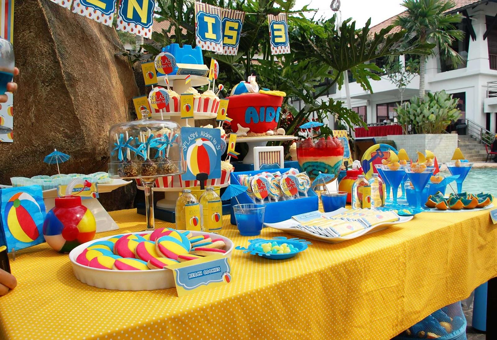Lizzie As A Mummy: Aiden's 3rd Birthday Beach Party