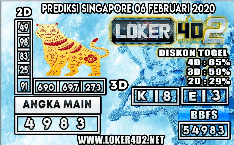 PREDIKSI TOGEL SINGAPORE LOKER4D2 06 FEBRUARI 2020