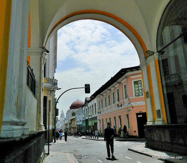 Rua do Centro Histórico de Quito, Equador