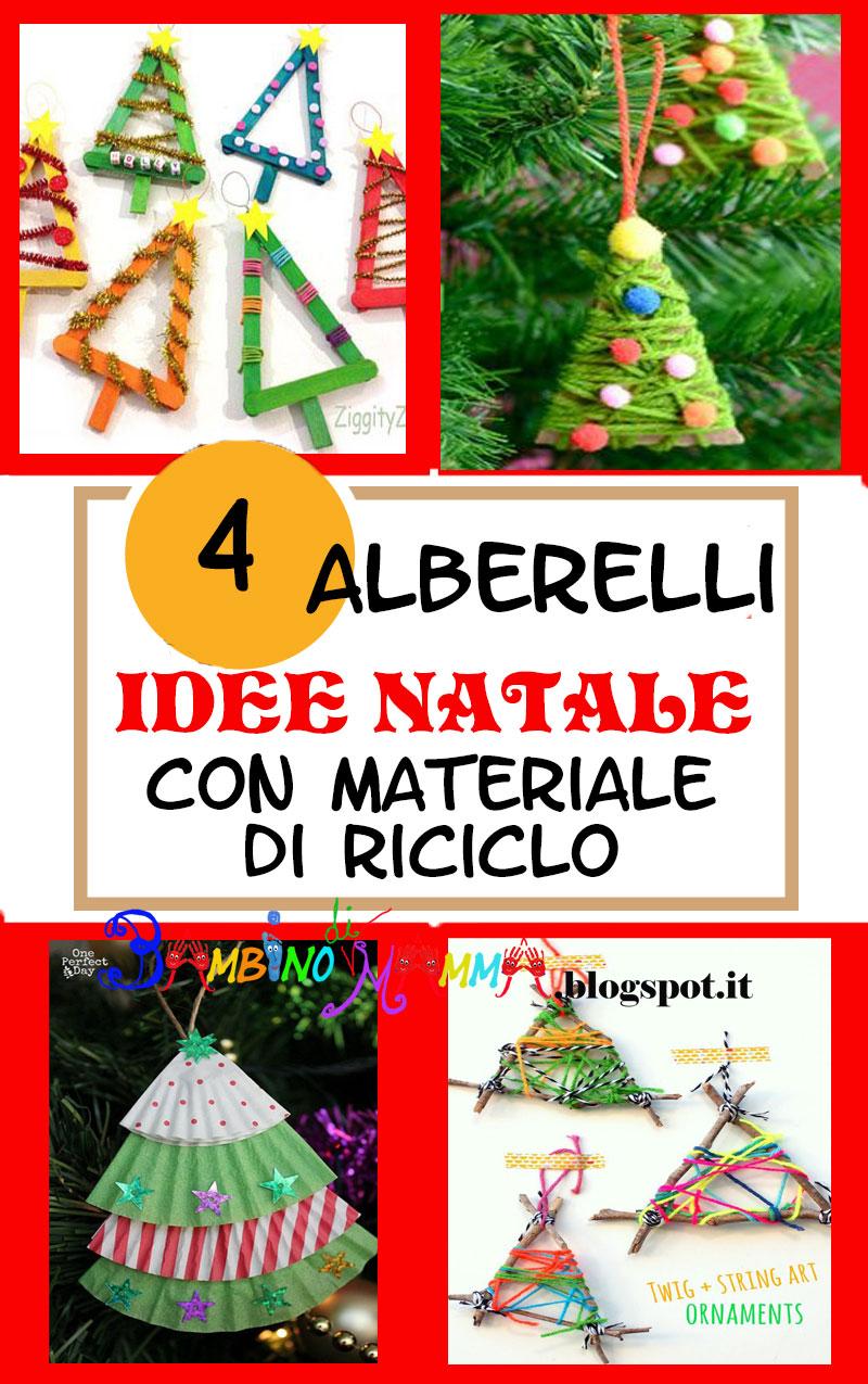 Idee Di Riciclo Per Natale bambino di mamma: alberelli da appendere sull'albero
