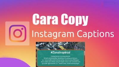 Cara Copy Link di Komentar Instagram, Cara Copy Paste Postingan dan Komentar Instagram