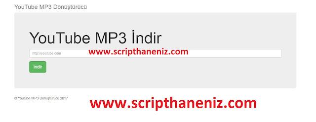 Youtube Mp3 Dönüştürücü Scripti İndir 2017