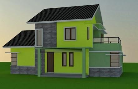 desain rumah minimalis 2 lantai | tampilan rumah