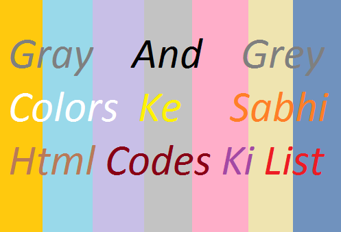 Gray-Grey-Colors-Ke-Html-Codes