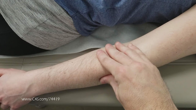 Male hands caresses Jasmin Jai's gorgeous arm hairs