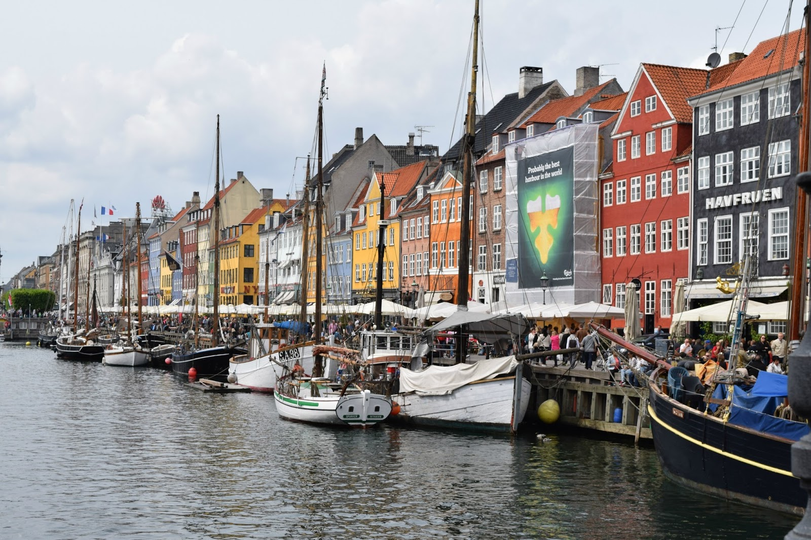 NyHavn Tourism Mile in Copenhagen