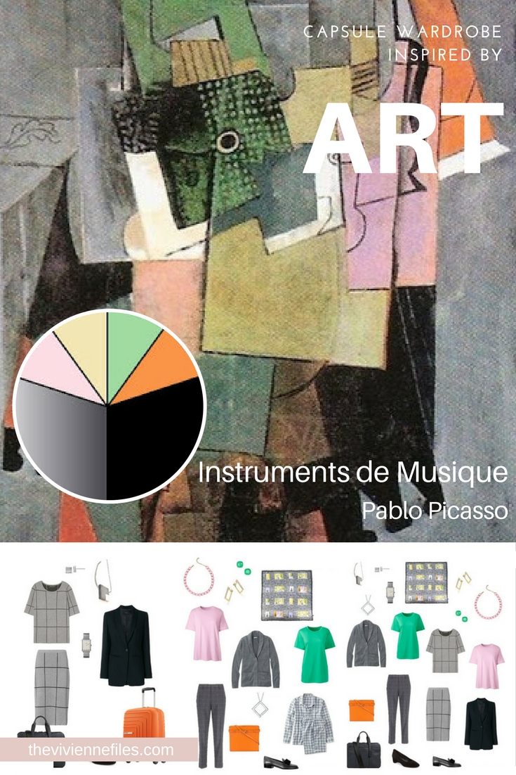 instruments de musique by pablo picasso inspiring an unusual business tote bag travel wardrobe. Black Bedroom Furniture Sets. Home Design Ideas