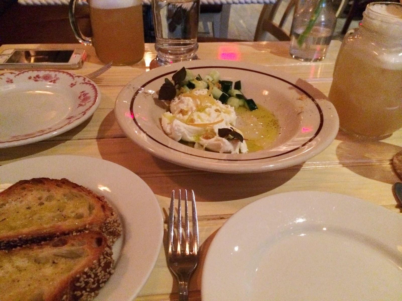 Chalk Point Kitchen, NYC, SoHo, eating fabulously, Matt Levine, Christopher Stewart, burrata