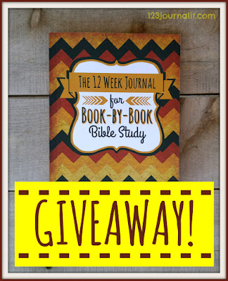 Book Giveaway for The 12 Week Journal for Book-by-Book Bible Study at 123 Journal It Publishing