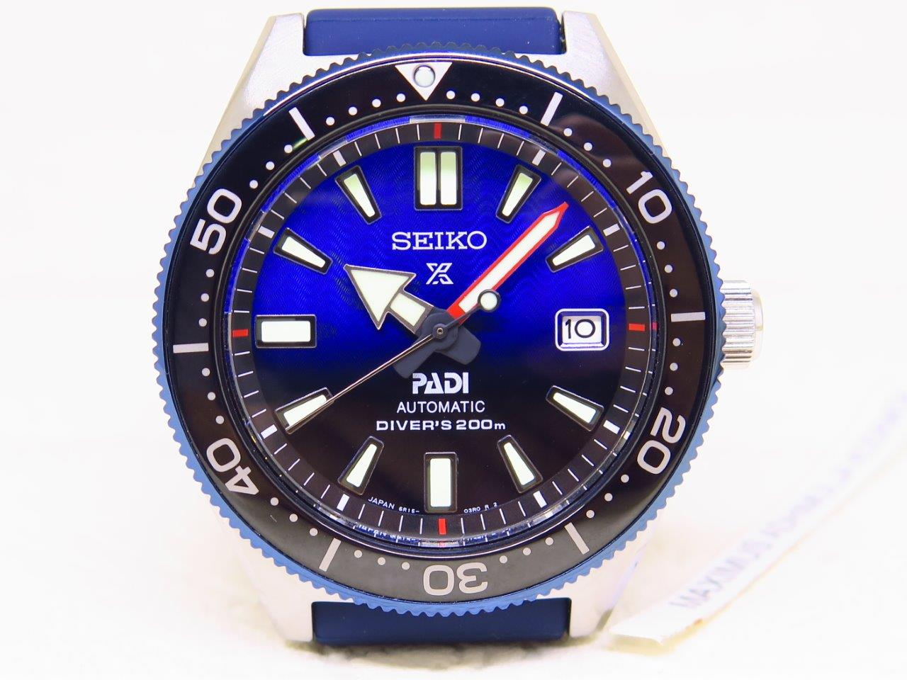 SEIKO DIVER REISSUE 6217 PADI BLUE BLACK DIAL - SEIKO SPB071J1 - AUTOMATIC 6R15 - MINT CONDITION