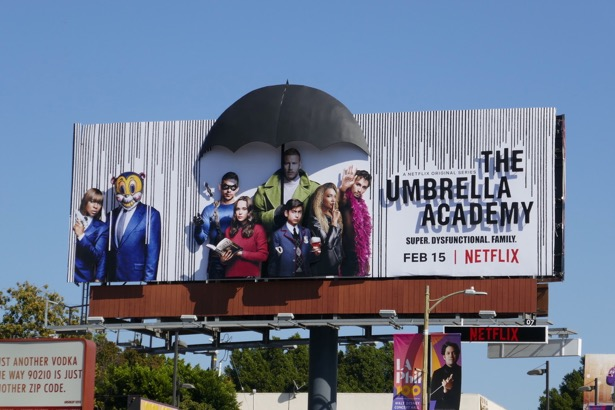 Umbrella Academy 3D billboard