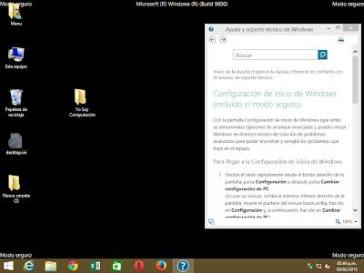 Modo a prueba de fallos windows 8.1