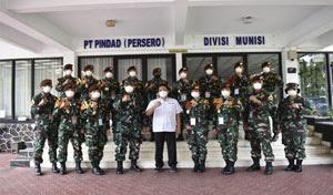 Taruna AAL Tingkat IV Korps Suplai Jalani Lattek di PT. Pindad