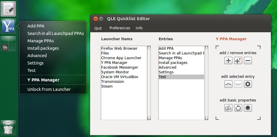 QLE Unity Quicklist Editor 2 0 Released ~ Web Upd8: Ubuntu / Linux blog