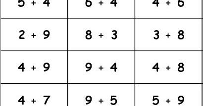 Cole r f rences etiquettes pour apprendre les tables d - Table d addition a completer ...