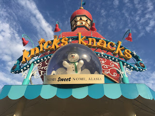 Knick's Knacks sign Pixar Pier California Adventure Disneyland
