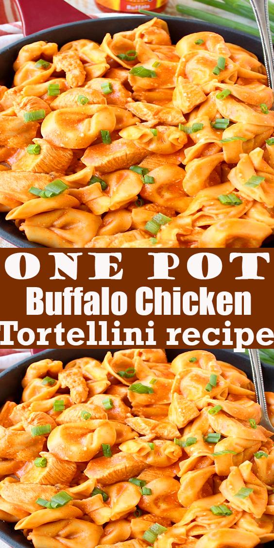One Pot Buffalo Chicken Tortellini #One Pot #Buffalo #Chicken #Tortellini