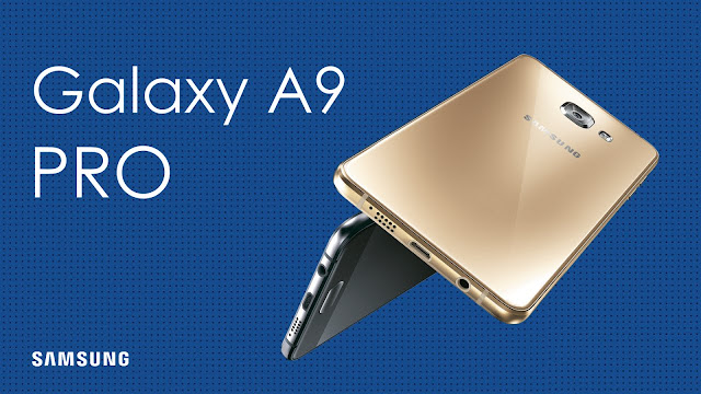 """Samsung Galaxy A9 Pro Specifications - LAUNCH Announced 2016, May  Also known as Samsung A9 Pro Duos (2016) with dual-SIM card slots DISPLAY Type Super AMOLED capacitive touchscreen, 16M colors Size 6.0 inches Resolution 1080 x 1920 pixels (~367 ppi pixel density) Multitouch Yes Protection Corning Gorilla Glass 4 BODY Dimensions - Build Corning Gorilla Glass 4 back panel Weight - SIM Single SIM (Nano-SIM) or Dual SIM (Nano-SIM, dual stand-by) PLATFORM OS Android OS, v6.0.1 (Marshmallow) CPU Quad-core 1.8 GHz Cortex-A72 & quad-core 1.2 GHz Cortex-A53 Chipset Qualcomm MSM8976 Snapdragon 652 GPU Adreno 510 MEMORY Card slot microSD, up to 128 GB (dedicated slot) Internal 32 GB, 4 GB RAM CAMERA Primary 16 MP, f/1.9, autofocus, OIS, LED flash Secondary 8 MP, f/1.9, 1080p Features 1/2.8"""" sensor size, geo-tagging, touch focus, face detection, panorama, HDR Video 1080p@30fps NETWORK Technology GSM / HSPA / LTE 2G bands GSM 850 / 900 / 1800 / 1900 - SIM 1 & SIM 2 (dual-SIM model only) 3G bands HSDPA 850 / 900 / 1900 / 2100 4G bands LTE Speed HSPA 42.2/5.76 Mbps, LTE Cat7 350/50 Mbps GPRS Yes EDGE Yes COMMS WLAN Wi-Fi 802.11 a/b/g/n/ac, dual-band, WiFi Direct, hotspot NFC Yes GPS Yes, with A-GPS, GLONASS/ BDS (market dependant) USB microUSB v2.0 Radio FM radio, RDS, recording Bluetooth v4.1, A2DP, EDR, LE FEATURES Sensors Fingerprint, accelerometer, gyro, proximity, compass Messaging SMS(threaded view), MMS, Email, Push Mail, IM Browser HTML5 Java No SOUND Alert types Vibration; MP3, WAV ringtones Loudspeaker Yes 3.5mm jack Yes BATTERY  Non-removable Li-Ion 5000 mAh battery Stand-by  Talk time  Music play  MISC Colors Pearl White, Midnight Black, Champagne Gold, Pink  - Fast battery charging - ANT+ support - Active noise cancellation with dedicated mic - MP4/WMV/H.264 player - MP3/WAV/WMA/eAAC+/FLAC player - Photo/video editor - Document viewer"""