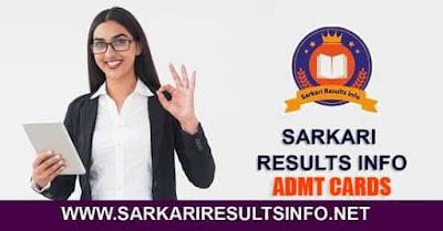 Sarkari Results info Latest Admit Cards 2020 Updates