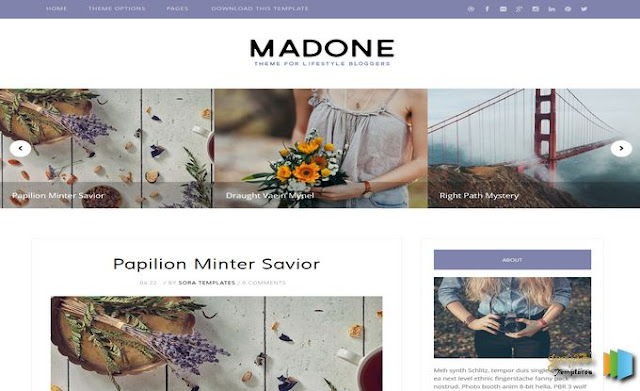 Madone Free Blogger Template